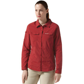 Craghoppers NosiLife Adventure Longsleeve Shirt Women fire red